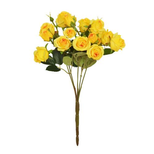 Mini Rosebud Flower Artificial Bunch Yellow