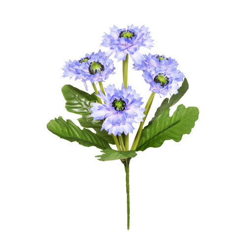 Artificial Cornflower Bouquet 7 Heads 36cm /14 Inches Light Blue
