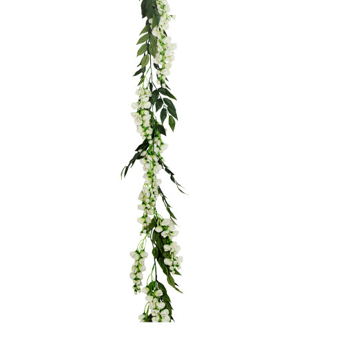 Wisteria Flower and Foliage Garland