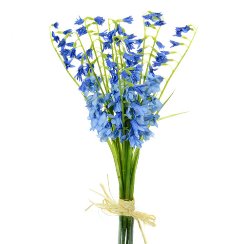 Bluebell Bundle Artificial Silk Flower 38cm/15 Inches Light Blue