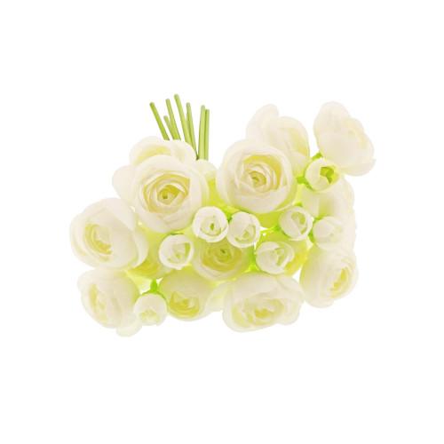 Ranunculus Bundle 8 Stems White