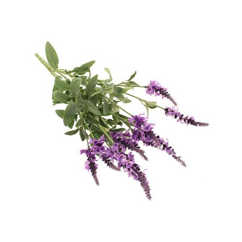 Lavender Bush Artificial Silk Purple Flowers 48cm