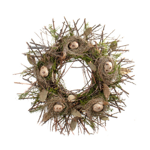 Moss and Twig Natural Spring Bird Nest Wreath 60cm/24 inch