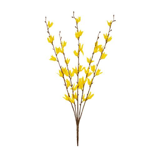 Forsythia Bush Artificial 54cm/21 Inches Yellow
