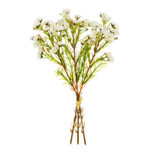 Waxflower Chamelaucium Bundle Artificial Cream