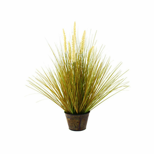 Artificial Foxtail Grass in Tin Pot