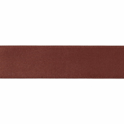 Satin Florist Ribbon 25mm/1 Inch Wide on a 20m/22yd Roll Brown
