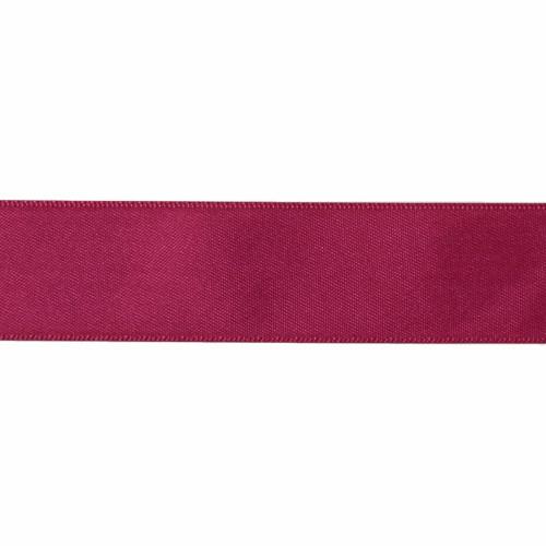 Satin Florist Ribbon 25mm/1 Inch Wide on a 20m/22yd Roll  Burgundy