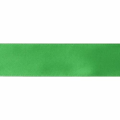 Satin Florist Ribbon 25mm/1 Inch Wide on a 20m/22yd Roll Emerald