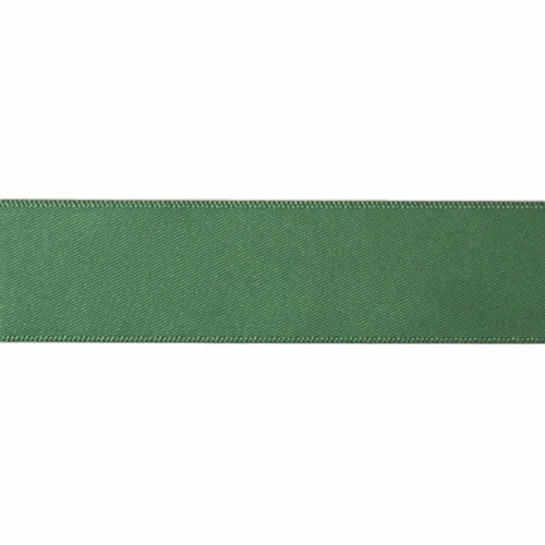 Satin Florist Ribbon 25mm/1 Inch Wide on a 20m/22yd Roll Forest Green