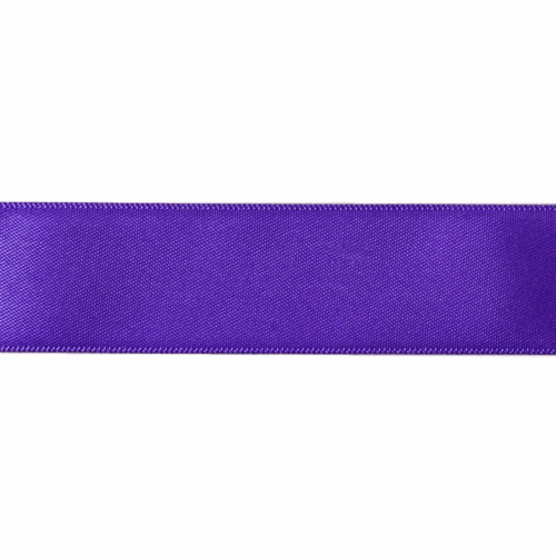 Satin Florist Ribbon 25mm/1 Inch Wide on a 20m/22yd Roll Plum