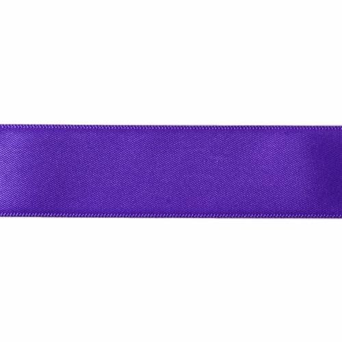 Satin Florist Ribbon 25mm/1 Inch Wide on a 20m/22yd Roll Plum