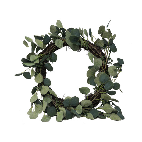 Round Leaf Artificial Eucalyptus Wreath 40cm/16 Inch