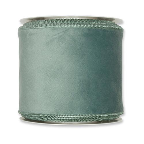 Velvet Fabric Ribbon 100mm x 8m Sage Green