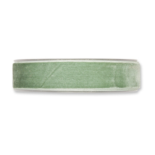 Velvet Fabric Ribbon 25mm x 9m Mint