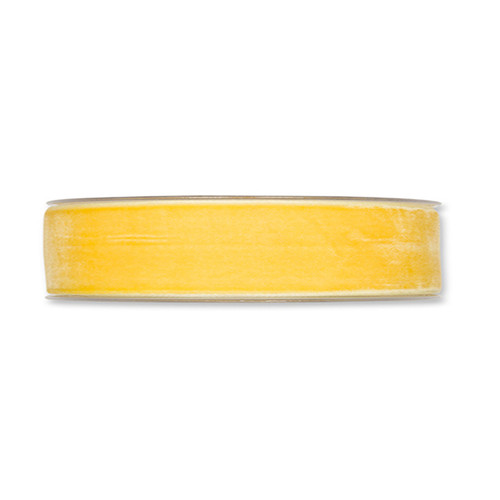 Velvet Fabric Ribbon 25mm x 9m Yellow