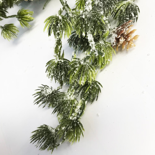 Frosted Artificial Pine Winter Garland