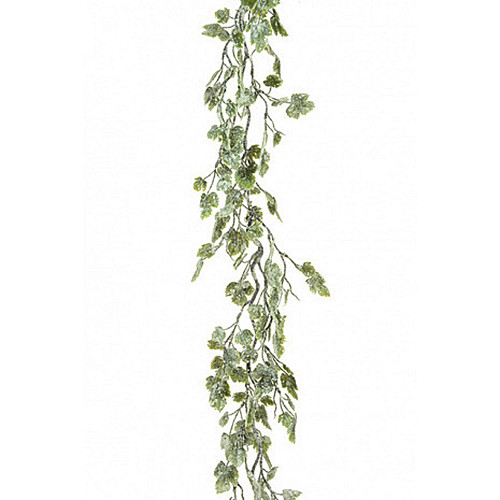 Snowy Artificial Grape Vine Leaf Garland