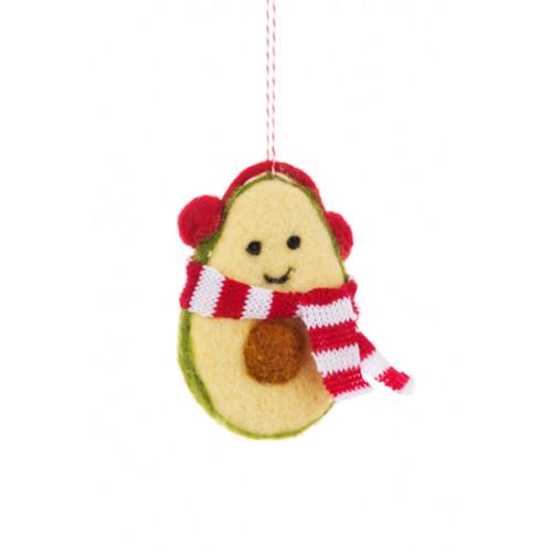 Felt Avocado Hanging Christmas Decoration