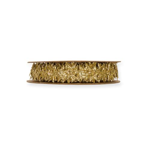 Punched Stars Festive Ribbon Glitter Gold