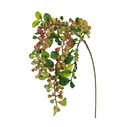 Hanging Artificial Sloe or Berry Spray Green