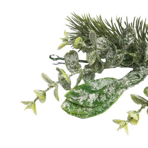Frosted Artificial Pine and Eucalyptus Winter Garland 180cm/71 Inches
