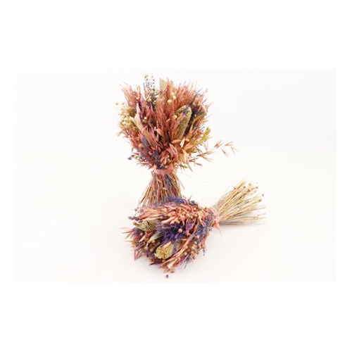 Dried Grasses Bouquet Pink