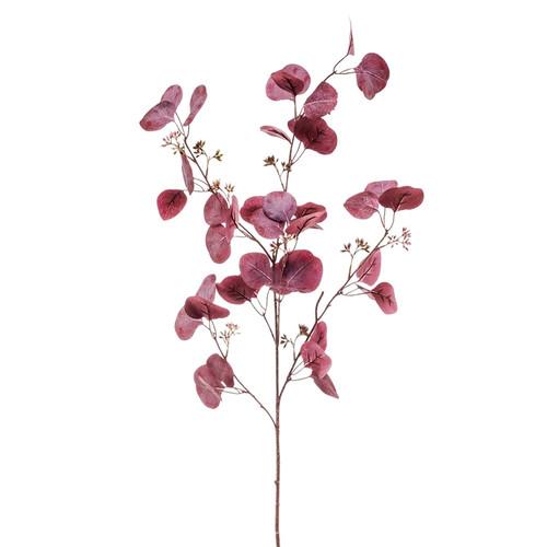 Faux Silk Eucalyptus Spray Burgundy