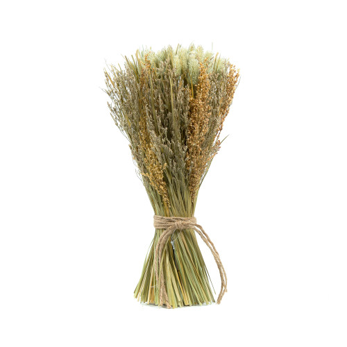 Rustic Bound Dried Flower, Grass And Leaf Sheaf