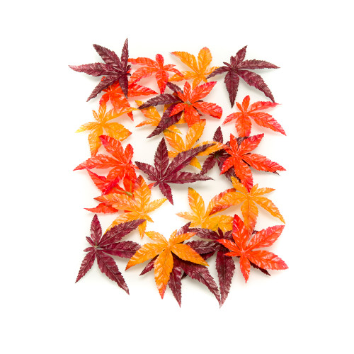 Assorted Artificial Silk Maple Leaves Bag of 24