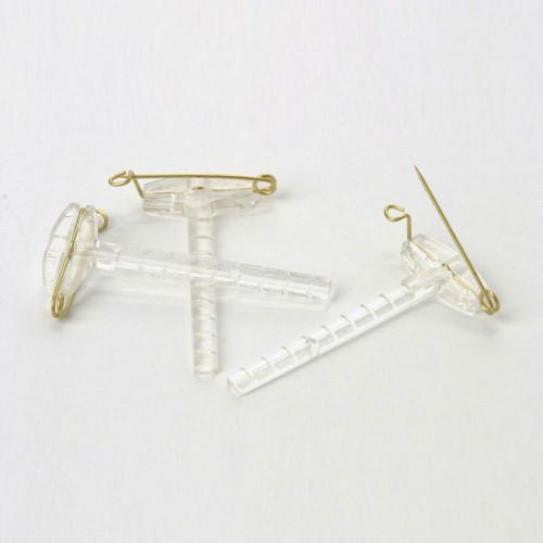 Corsage Clip Clear Plastic Box of 50