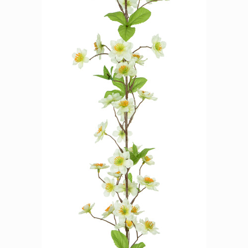 Apple Blossom Garland Cream 180cm