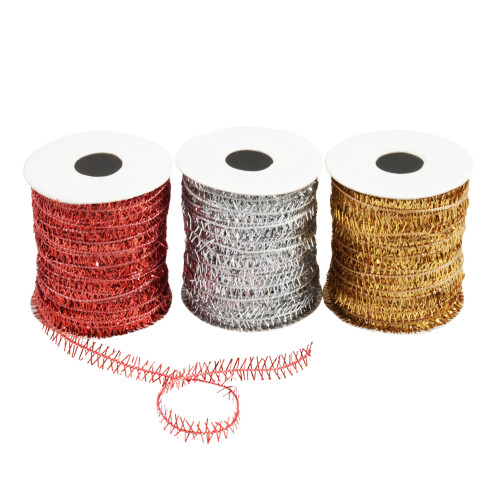 Metallic Wired Twine 3 Pack Assorted