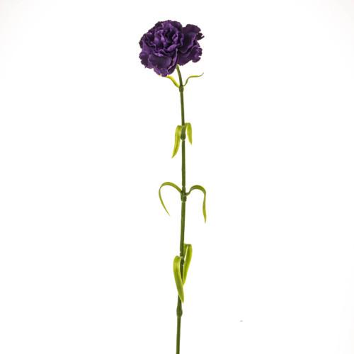 Carnation Artificial Silk 63cm Pack of 6 Stems Purple