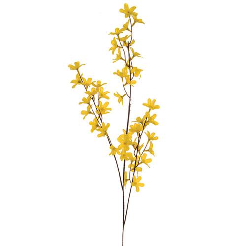 Forsythia Spray 84cm Yellow x 9 Sub-stems on 3 Stems