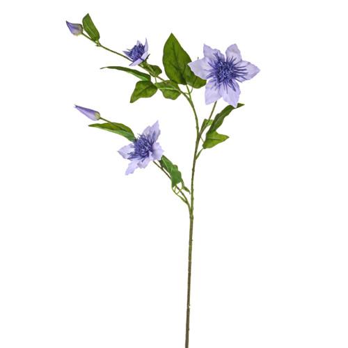 Clematis Spray Artificial Silk 79cm Lilac