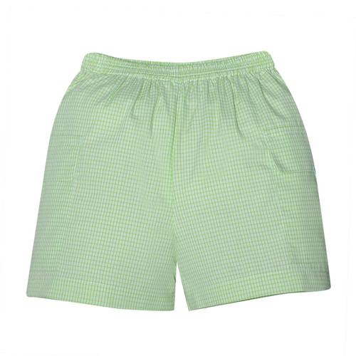 Lime Plaid Cargo Short 1