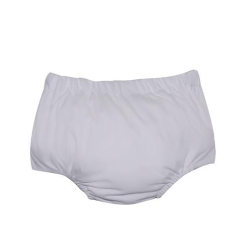Boy Diaper Cover - White