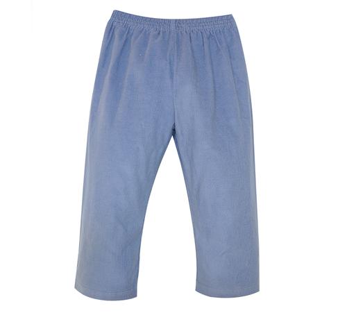 Logan Elastic Pant- Steel Blue