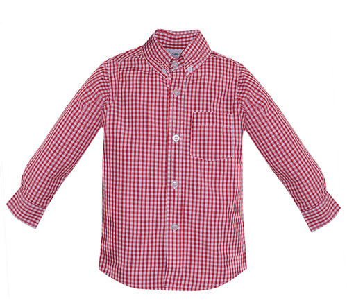 Brother Button Down Shirt-Red