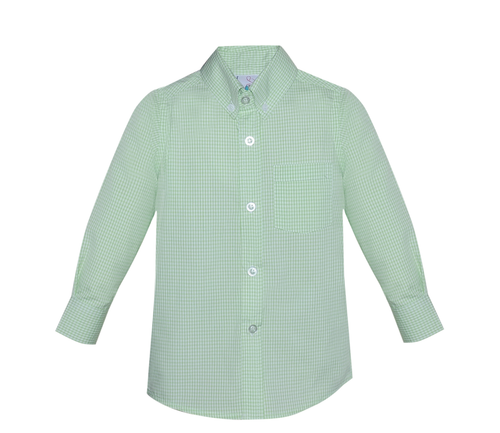 Brother Button Down Shirt- Lime Green