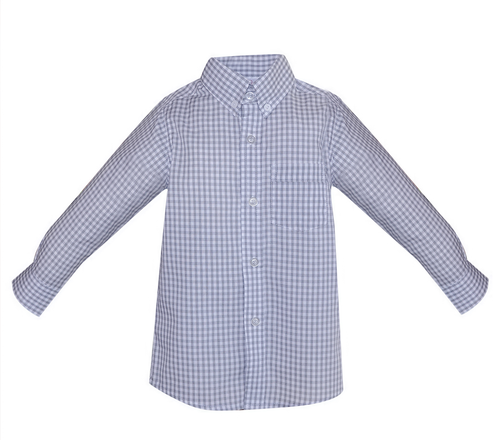 Brother Button Down Shirt- Gray