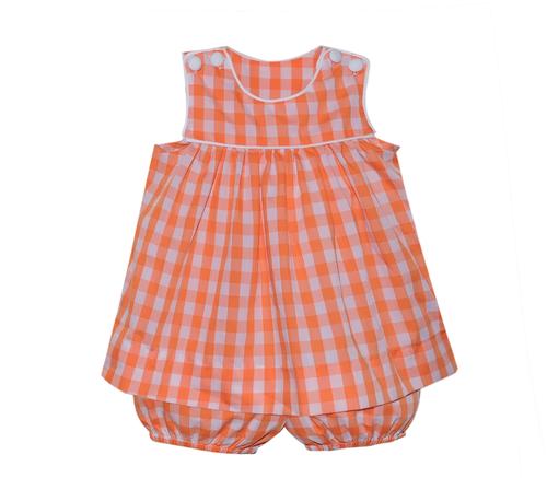 Orange/White Bloomer Set/Short Set