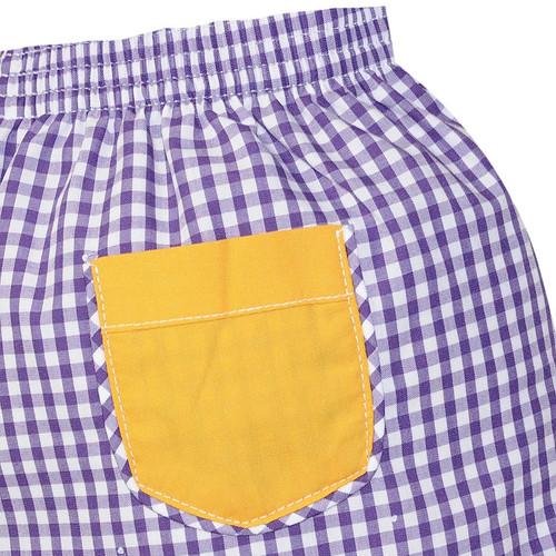 Purple/Gold Short Set
