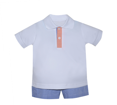Navy/Orange Short Set