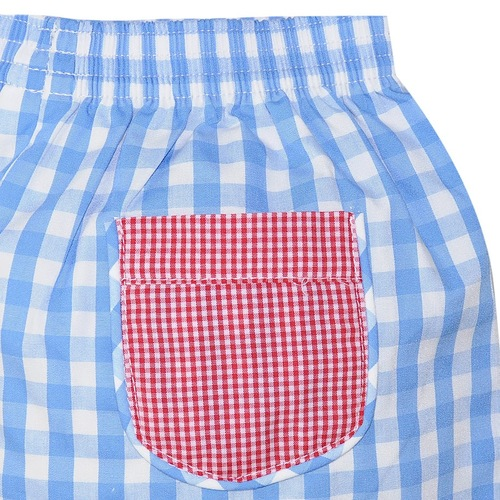 Blue/Red Short Set