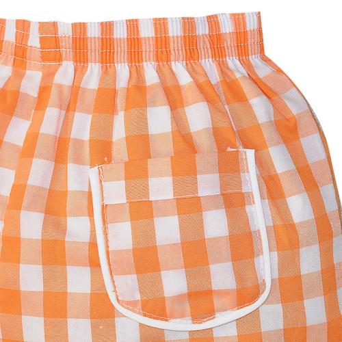 Orange/White Short Set