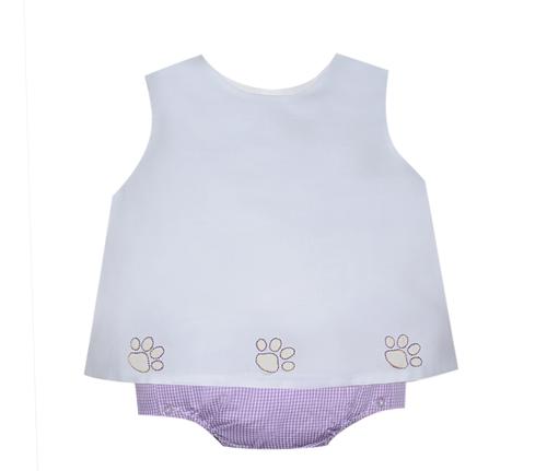 Purple/Gold Boy Diaper Set