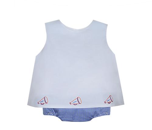 Navy/Orange Girl Diaper Set
