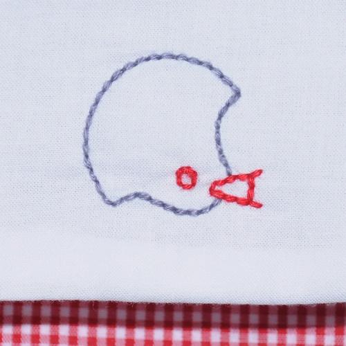 Red/Gray Boy Diaper Set